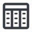 spreadsheet-wide line, up, wide, cell, table, data, grid, row, columns, spreadsheet, spreadsheet-wide free icon 64x64 64x64px