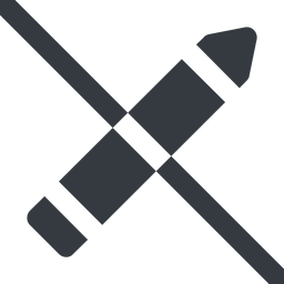 pen-solid line, down, wide, prohibited, pen, pencil, draw, edit., pen-solid free icon 256x256 256x256px
