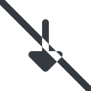 arrow-solid line, down, wide, arrow, prohibited, arrow-solid free icon 128x128 128x128px