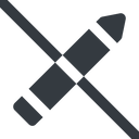 pen-solid line, down, wide, prohibited, pen, pencil, draw, edit., pen-solid free icon 128x128 128x128px