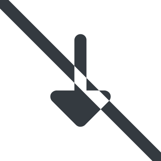 arrow-solid line, down, wide, arrow, prohibited, arrow-solid free icon 512x512 512x512px