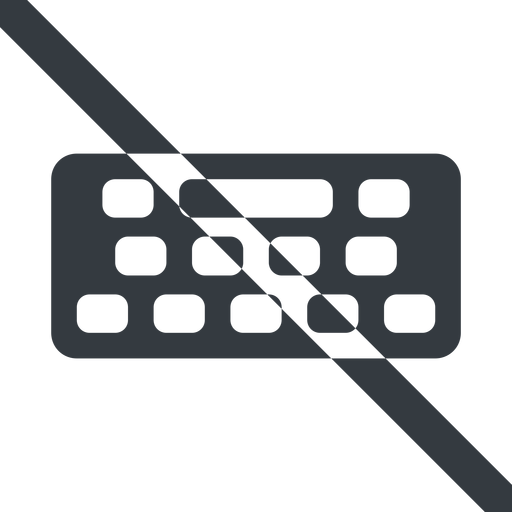 keyboard-solid line, down, wide, prohibited, desktop, keyboard, keypad, typing, keyboard-solid free icon 512x512 512x512px
