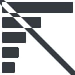 bar-chart-solid line, left, wide, horizontal, mirror, graph, chart, prohibited, statistics, antenna, mobile, signal, bars, level, strength, bar, bar-chart-solid free icon 256x256 256x256px