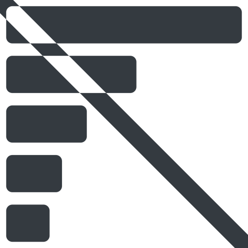 bar-chart-solid line, left, wide, horizontal, mirror, graph, chart, prohibited, statistics, antenna, mobile, signal, bars, level, strength, bar, bar-chart-solid free icon 512x512 512x512px