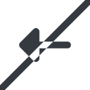 arrow-solid line, left, wide, arrow, prohibited, arrow-solid free icon 128x128 128x128px