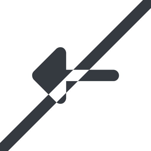 arrow-solid line, left, wide, arrow, prohibited, arrow-solid free icon 512x512 512x512px