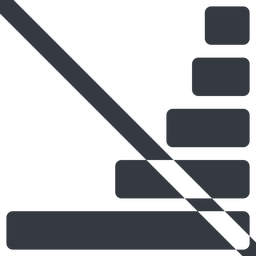 bar-chart-solid line, right, wide, horizontal, mirror, graph, chart, prohibited, statistics, antenna, mobile, signal, bars, level, strength, bar, bar-chart-solid free icon 256x256 256x256px
