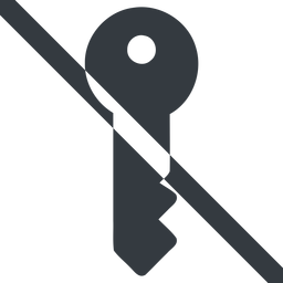key-solid line, right, wide, horizontal, mirror, prohibited, unlocked, unlock, locked, lock, key, access, security, key-solid free icon 256x256 256x256px