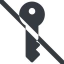 key-solid line, right, wide, horizontal, mirror, prohibited, unlocked, unlock, locked, lock, key, access, security, key-solid free icon 128x128 128x128px