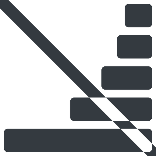 bar-chart-solid line, right, wide, horizontal, mirror, graph, chart, prohibited, statistics, antenna, mobile, signal, bars, level, strength, bar, bar-chart-solid free icon 512x512 512x512px