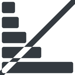 bar-chart-solid line, right, wide, graph, chart, prohibited, statistics, antenna, mobile, signal, bars, level, strength, bar, bar-chart-solid free icon 256x256 256x256px