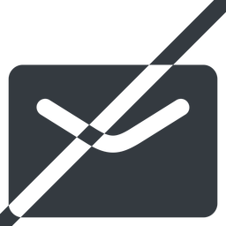 close-envelope-solid line, wide, horizontal, mirror, envelope, mail, message, email, prohibited, contact, close, unread, close-envelope-solid, close-envelope free icon 256x256 256x256px