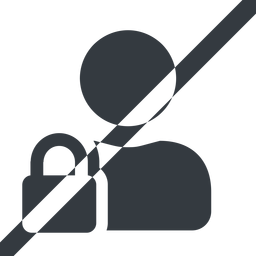 user-lock-solid line, wide, horizontal, mirror, user, man, woman, person, prohibited, secure, safe, padlock, locked, lock, user-lock, user-lock-solid free icon 256x256 256x256px