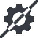 setting-solid line, wide, horizontal, mirror, setting, config, gear, wheel, settings, cog, prohibited, setting-solid free icon 128x128 128x128px