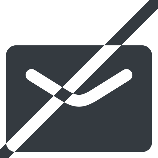 close-envelope-solid line, wide, horizontal, mirror, envelope, mail, message, email, prohibited, contact, close, unread, close-envelope-solid, close-envelope free icon 512x512 512x512px
