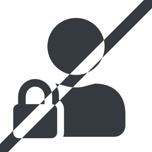 user-lock-solid line, wide, horizontal, mirror, user, man, woman, person, prohibited, secure, safe, padlock, locked, lock, user-lock, user-lock-solid free icon 512x512 512x512px