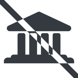 bank-solid line, wide, prohibited, law, bank, banking, university, investment, finance, bank-solid, court free icon 256x256 256x256px
