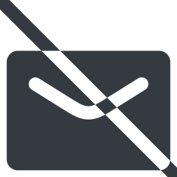 close-envelope-solid line, wide, envelope, mail, message, email, prohibited, contact, close, unread, close-envelope-solid, close-envelope free icon 256x256 256x256px