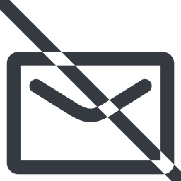 close-envelope-wide line, wide, envelope, mail, message, email, prohibited, contact, close, unread, close-envelope, close-envelope-wide free icon 256x256 256x256px