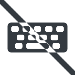 keyboard-solid line, up, wide, prohibited, desktop, keyboard, keypad, typing, keyboard-solid free icon 256x256 256x256px