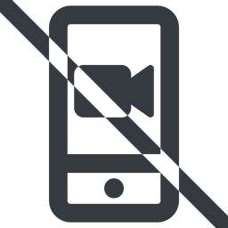smartphone-video-wide line, up, wide, video, prohibited, phone, mobile, smartphone, call, smartphone-video, smartphone-video-wide free icon 256x256 256x256px