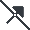 arrow-corner-solid line, up, wide, arrow, prohibited, corner, arrow-corner-solid free icon 128x128 128x128px