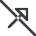 arrow-corner-wide line, up, wide, arrow, prohibited, corner, arrow-corner-wide free icon 128x128 128x128px
