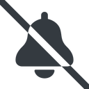 bell-solid line, wide, prohibited, bell, notification, alarm, bell-solid free icon 128x128 128x128px