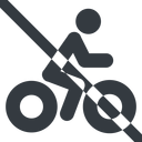 bicycle-solid line, wide, vehicle, prohibited, riding, bicycle, bike, cycle, cycling, bicycle-solid free icon 128x128 128x128px