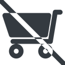 shopping-cart-solid line, wide, prohibited, shopping, cart, shop, buy, trolley, shopping-cart-solid free icon 128x128 128x128px