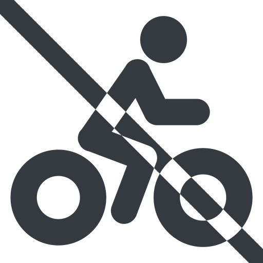 bicycle-solid line, wide, vehicle, prohibited, riding, bicycle, bike, cycle, cycling, bicycle-solid free icon 512x512 512x512px