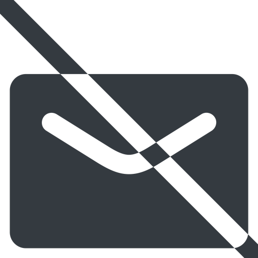 close-envelope-solid line, wide, envelope, mail, message, email, prohibited, contact, close, unread, close-envelope-solid, close-envelope free icon 512x512 512x512px