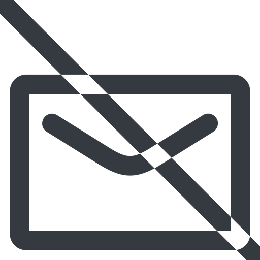 close-envelope-wide line, wide, envelope, mail, message, email, prohibited, contact, close, unread, close-envelope, close-envelope-wide free icon 512x512 512x512px