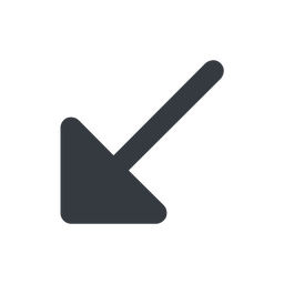 arrow-corner-solid down, wide, arrow, corner, arrow-corner-solid free icon 256x256 256x256px