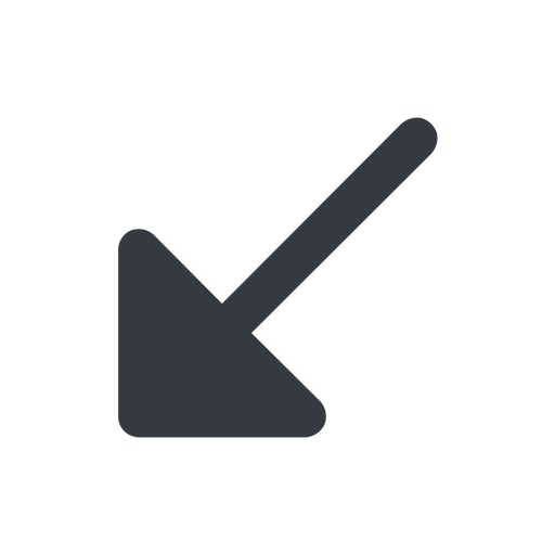 arrow-corner-solid down, wide, arrow, corner, arrow-corner-solid free icon 512x512 512x512px
